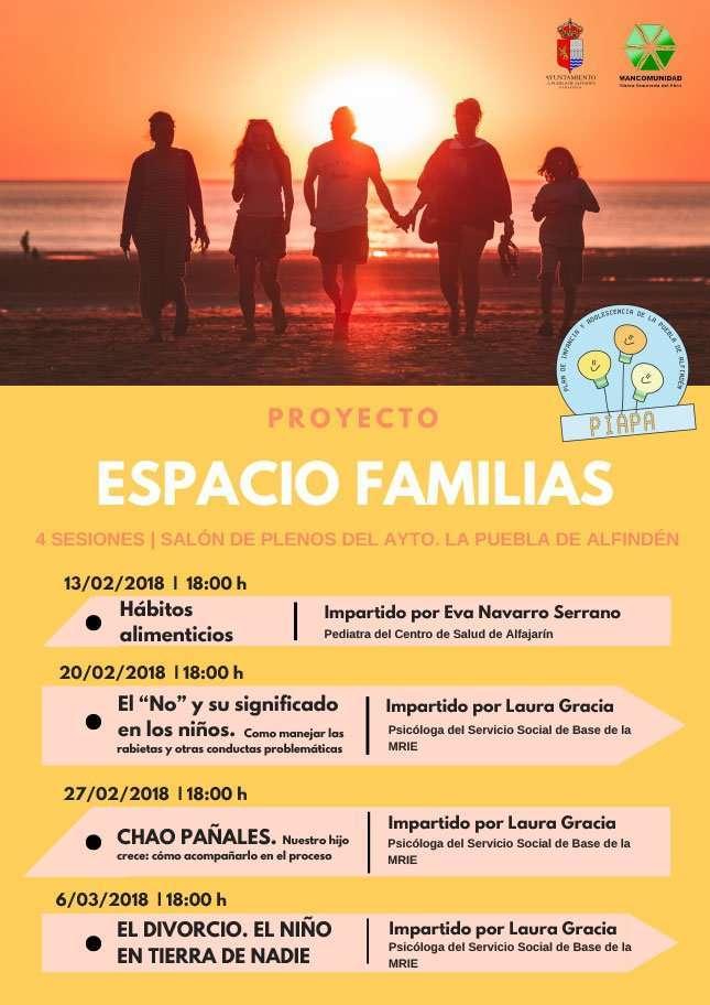 Proyecto Espacio Familias – 4 charlas que se enmarcan dentro de PIAPA sobre diferentes temas.