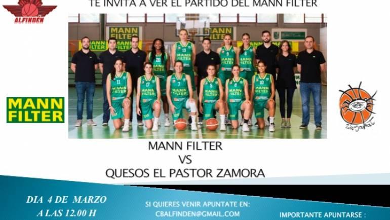 El Club de Baloncesto Alfindén te invita al partido del Mann Filter