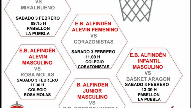 Calendario partidos de baloncesto del fin de semana del 3 y 4 de febrero de 2018