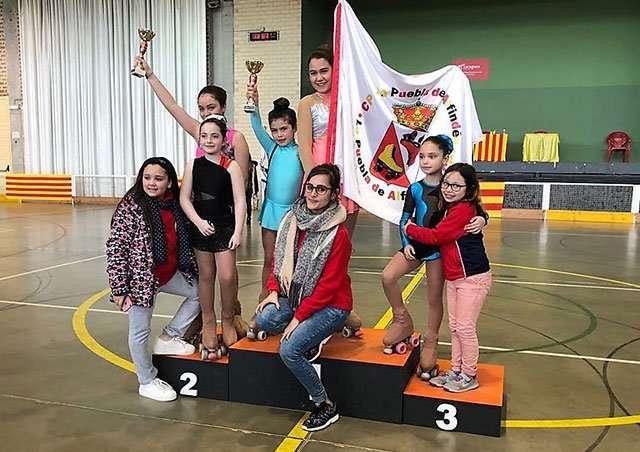 El Club Patín La Puebla de Alfindén participa en el VII Interclubs Mesaches
