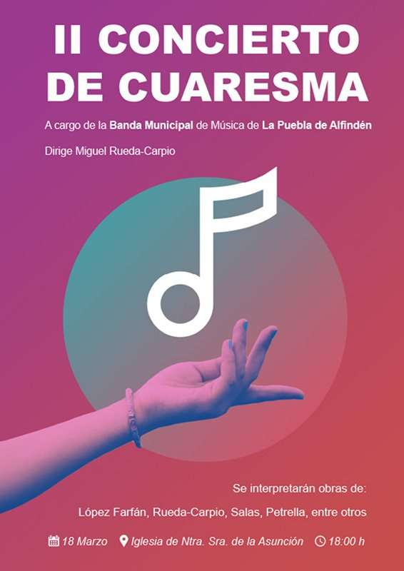 II Concierto de Cuaresma, a cargo de la Banda Municipal