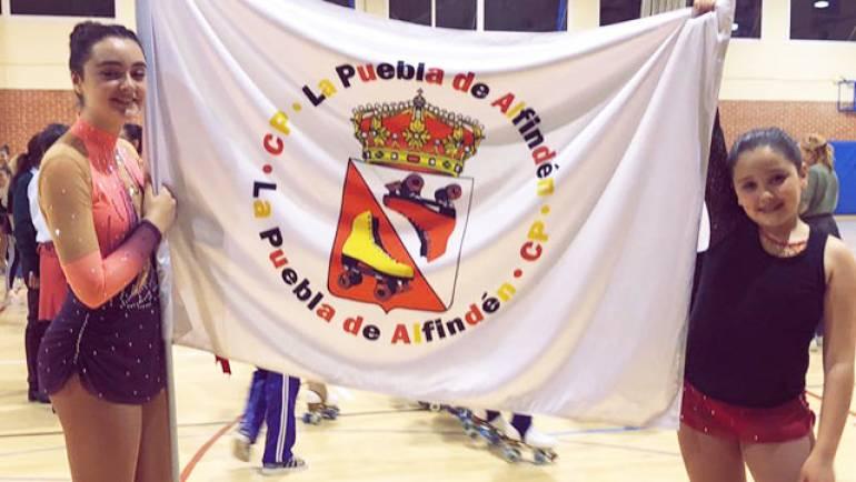 Las hermanas Valero, del Club Patín La Puebla, entre las mejores patinadoras de Aragón.