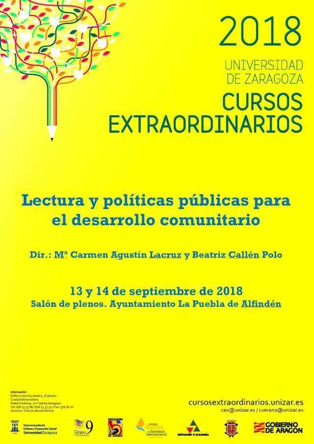 Lectura y políticas públicas para el desarrollo comunitario – Curso extraordinario de la Universidad de Zaragoza