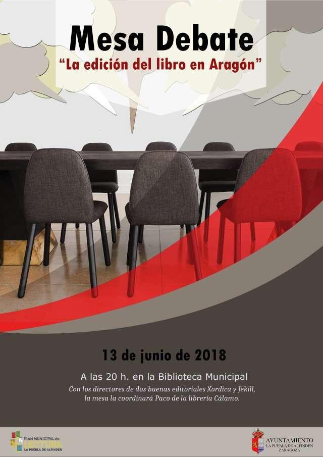 """Mesa debate  """"La edición del libro en Aragón"""""""