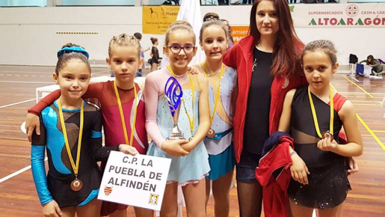 El Club Patín La Puebla de Alfindén participa en el XVII Torneo Promesas Pequeños en Huesca