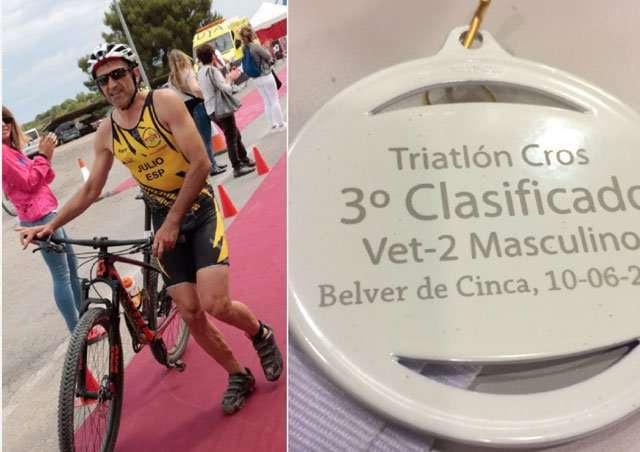 Julio Saganta se sube al podio en el Triatlón de Belver de Cinca