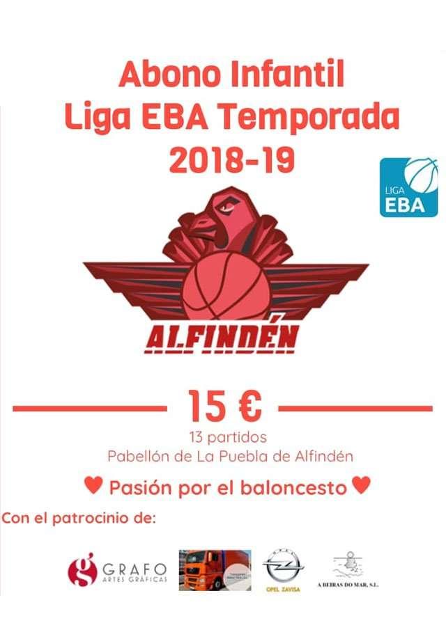 Abónate al Alfindén Club de Basket y disfruta de los partidos de la Liga EBA