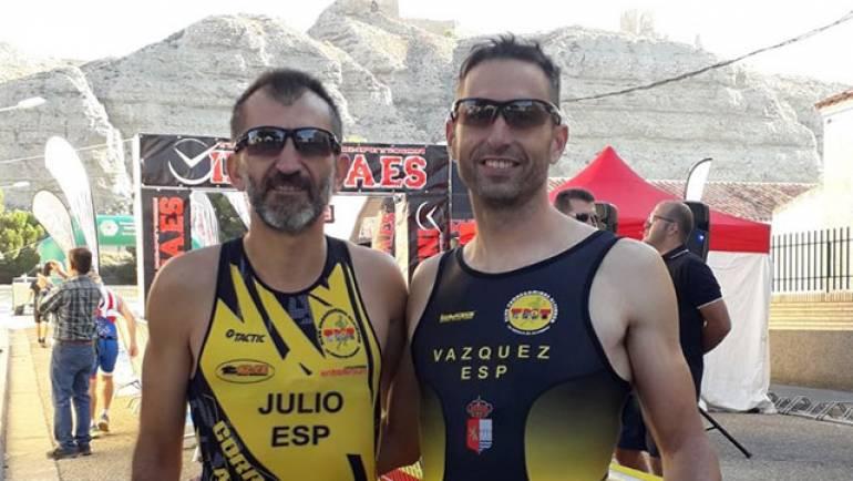 Los correcaminos Saganta y Vazquez en el Duatlón Cross de Alfajarín
