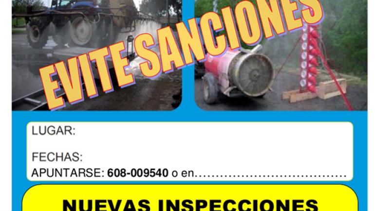 Agricultura – Bando sobre inspección de equipos aplicadores de fitosanitarios