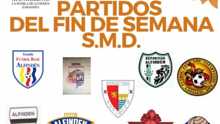 Partidos que se van a jugar en las instalaciones municipales los días 27 a 29 de octubre de 2018