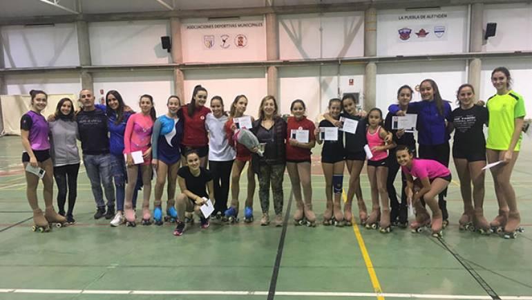 El Club Patín La Puebla de Alfindén organizó una jornada de tecnificación con 'Rolis'