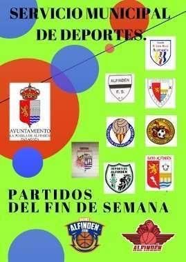 Horarios de los partidos a disputar en las instalaciones municipales el fin de semana del 16 y 17 de febrero de 2019