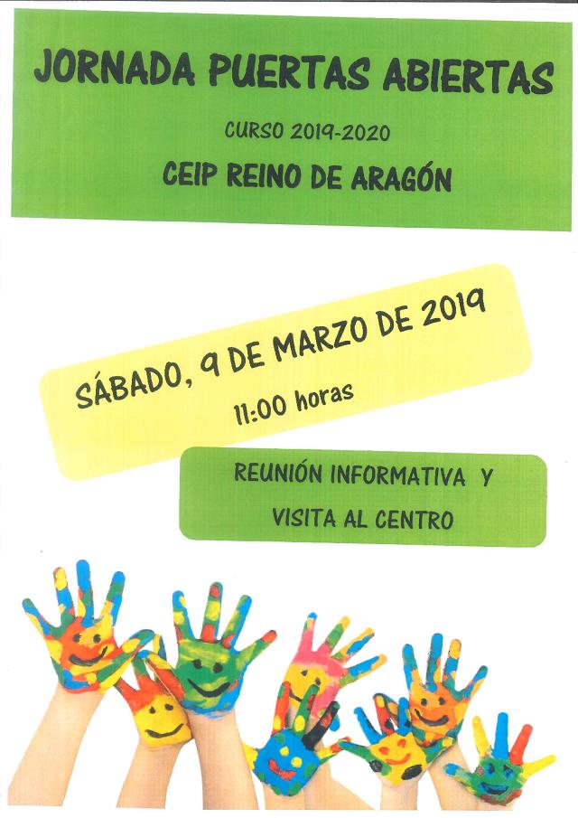 El CPEIP Reino de Aragón organiza una jornada de puertas abiertas