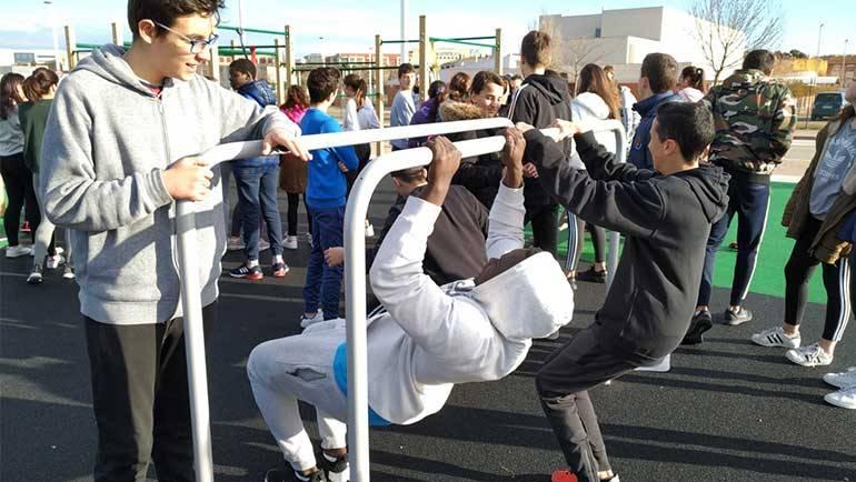 Los alumnos del IES aprenden a utilizar el Parque Lineal