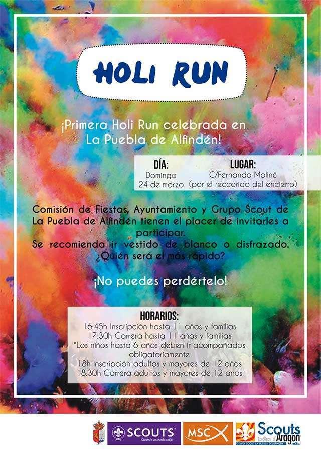 Holi Run La Puebla de Alfindén