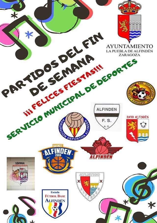 Horarios de los partidos a celebrar en las instalaciones municipales el fin de semana del 22 al 24 de marzo de 2019