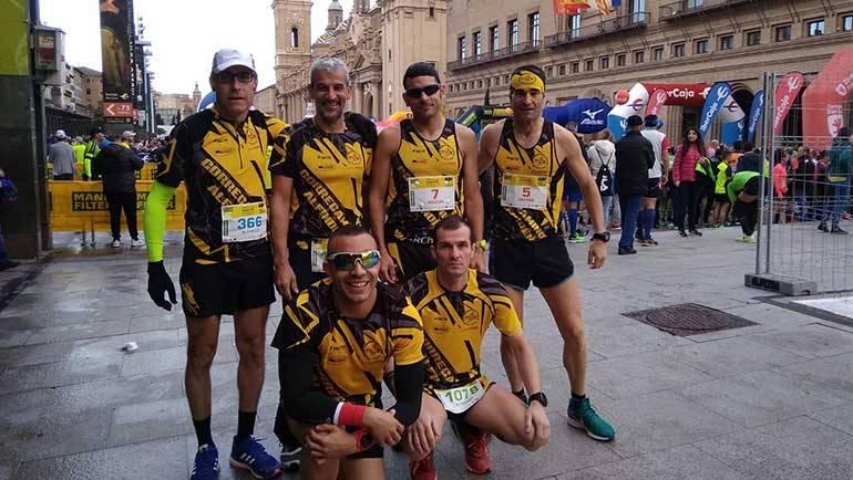 Los 'correcaminos' participan en la XIII Maratón de Zaragoza