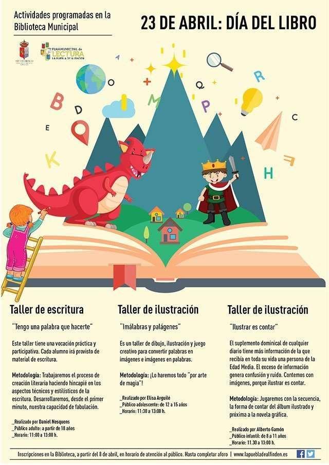 Día del libro La Puebla de Alfindén