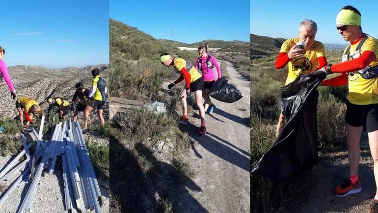 El Club Correcaminos realizó una limpieza de los tramos del monte por los que discurrirá la TMT