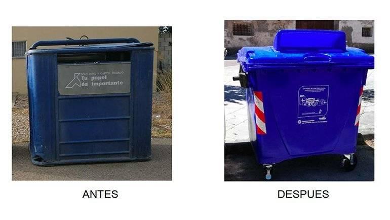 Nuevo sistema de recogida de papel / cartón en los municipios de la Mancomunidad Ribera Izquierda del Ebro
