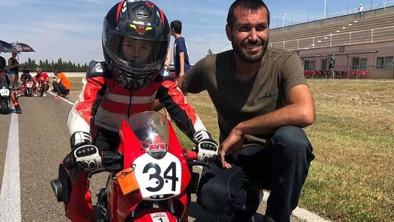 Yaiza Moral, 2ª en el Campeonato de Aragón y 15ª en el de España de minivelocidad