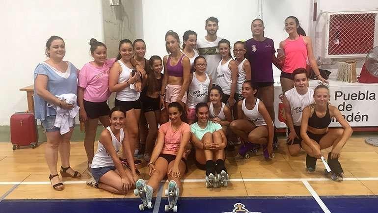 El Club Patín La Puebla de ALfindén realiza una tecnificación con el campeón del mundo Luca Lucaroni