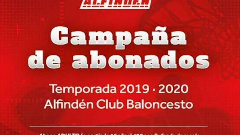 En marcha la campaña de abonados 19/20 del Alfindén C.B.