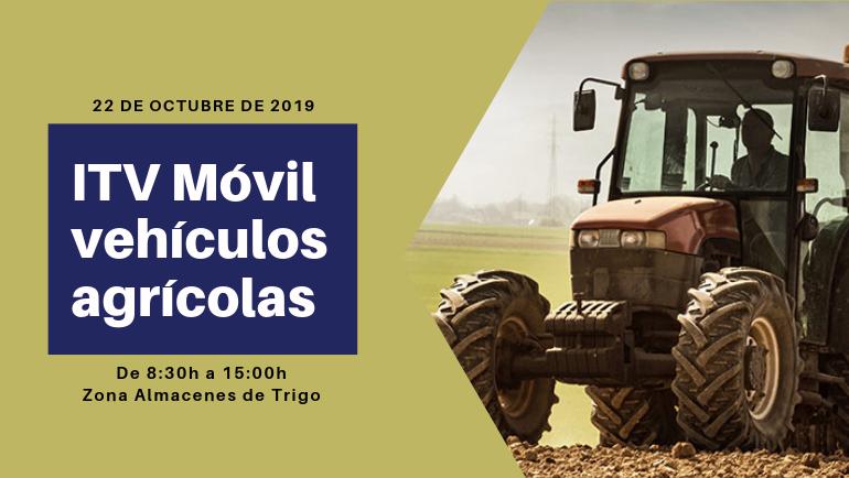La ITV móvil de vehículos agrícolas estará en La Puebla de Alfindén el próximo 22 de octubre