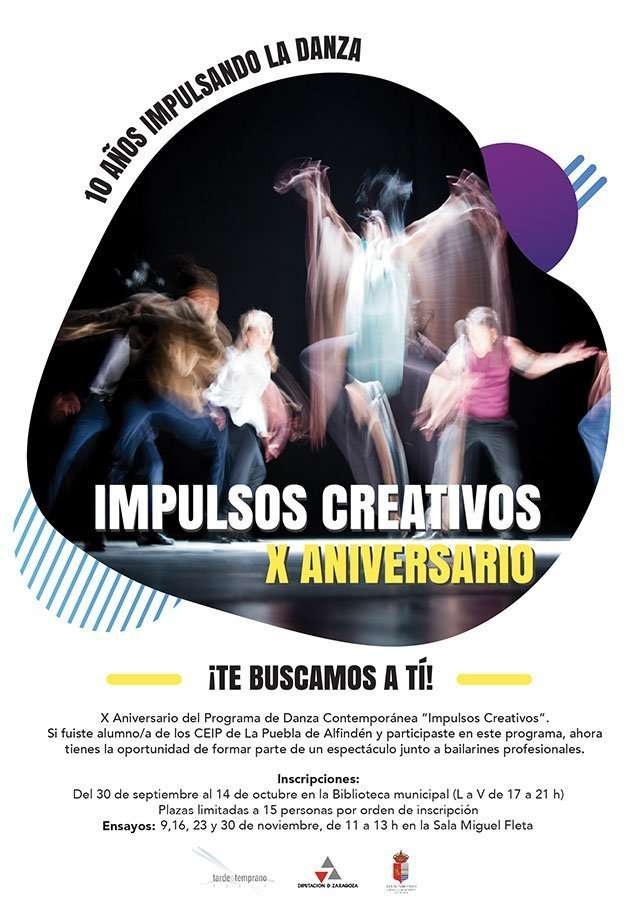 ¿Quieres participar en el X Aniversario del programa de danza contemporánea 'Impulsos creativos'?