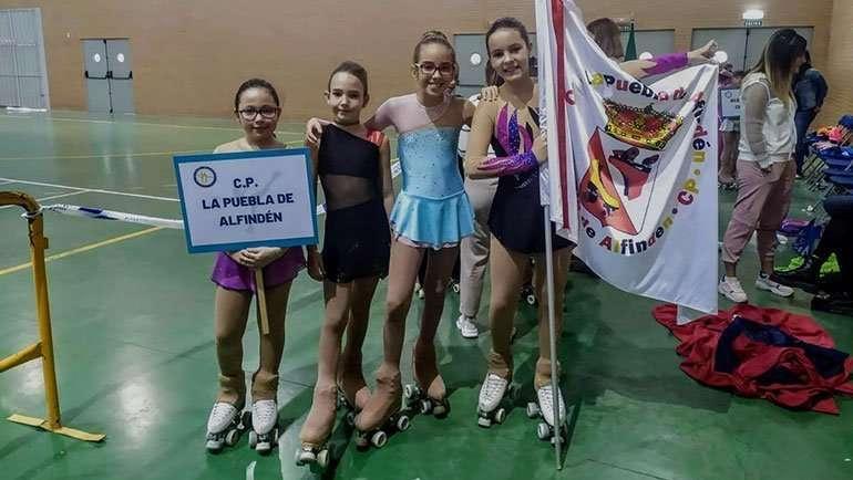 El Club Patín La Puebla de Alfindén consigue 5 podios en el Torneo Promesas Pequeños de Villamayor