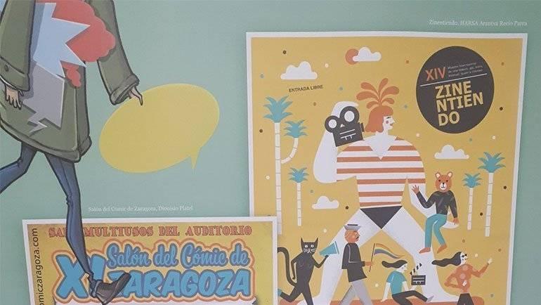 Exposición de fanzines, editoriales, personajes y autores del cómic aragonés