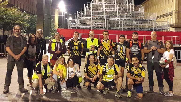 Los 'correcaminos' peregrinaron un año más hasta el Pilar