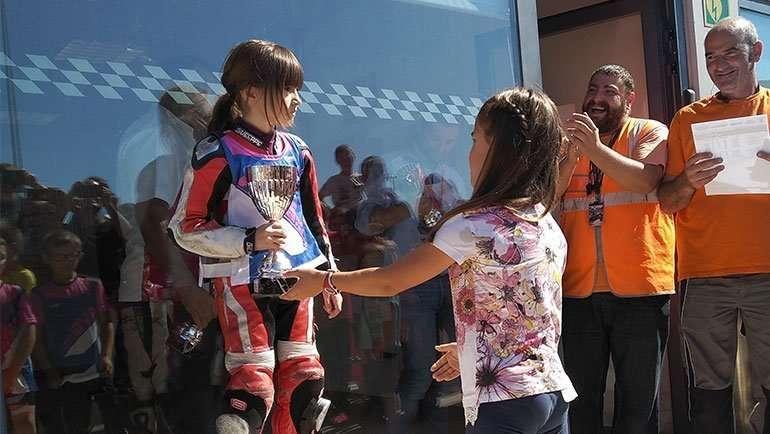 Yaiza Moral, 3ª en el Campeonato de Aragón de Minimotos
