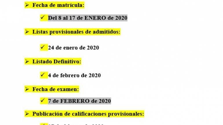 Plazos para el examen de Competencias Clave N2 de febrero de 2020
