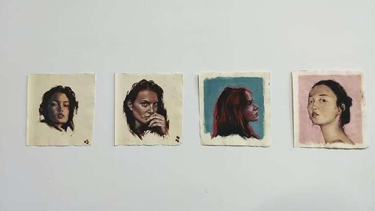 Inauguración exposición de pintura 'Desde el origen', de Isabel Felipe.