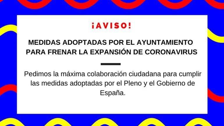 Última hora: medidas adoptadas por el Ayuntamiento de La Puebla para detener la expansión del brote de Coronavirus (COVID-19)