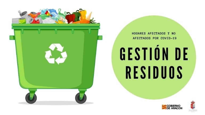 ¿Qué debemos hacer con los residuos domésticos en hogares afectados por el COVID-19?