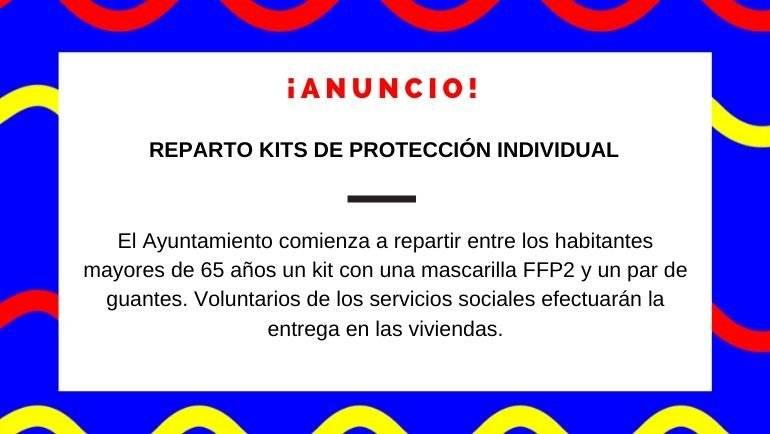 El Ayuntamiento reparte kits de protección individual