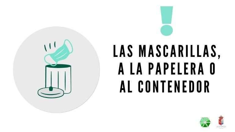 Recuerda depositar los guantes y mascarillas usadas en la papelera o contenedor