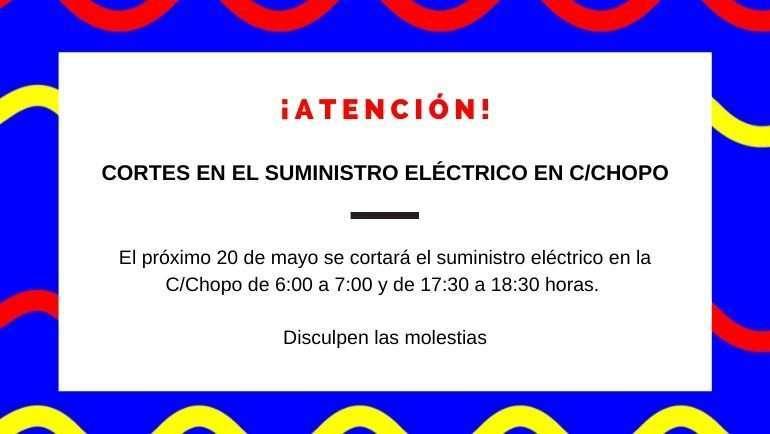 Corte en el suministro eléctrico en C/Chopo