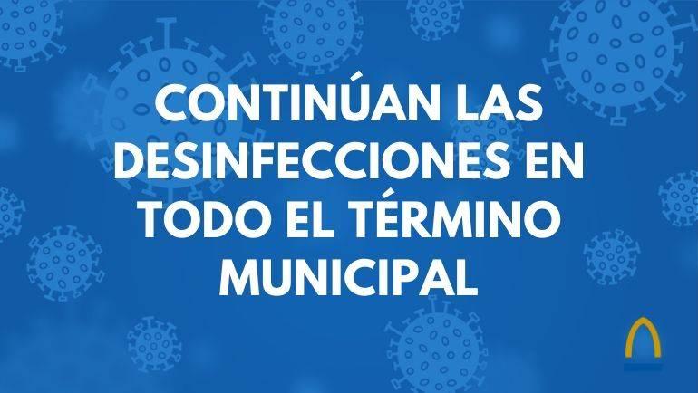 El Ayuntamiento continúa realizando limpiezas y desinfecciones en todo el municipio