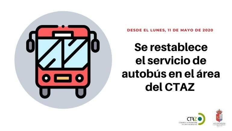 Restablecimiento de los servicios de transporte público en el área del CTAZ