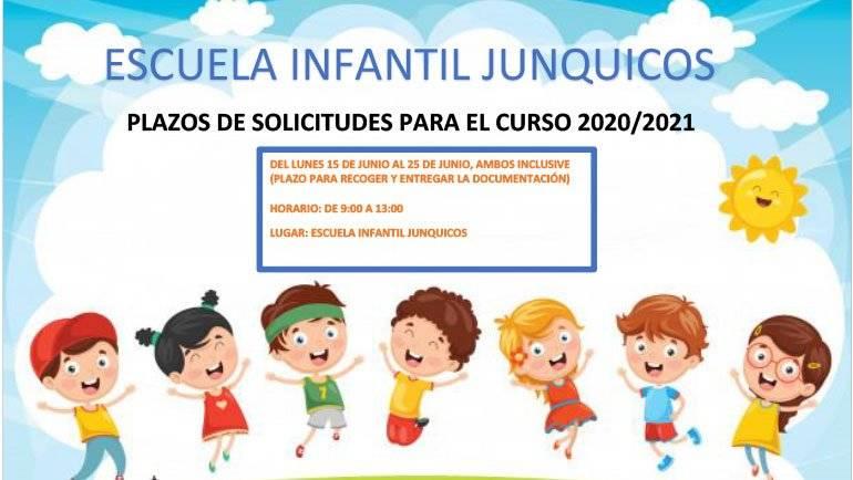 La Escuela Infantil Junquicos reabre el plazo de matriculación