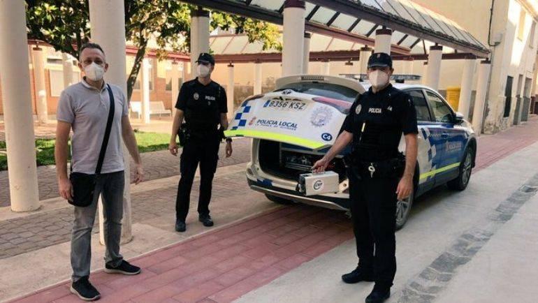El Ayuntamiento desinfecta sus instalaciones y vehículos municipales con cañones de ozono prestados por CSIF