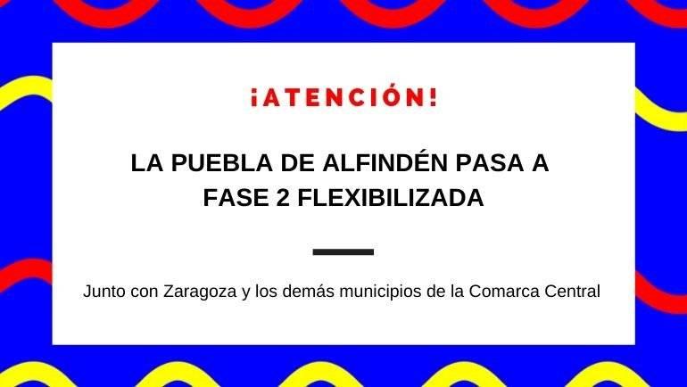 Zaragoza y los municipios de la Comarca Central pasan a fase 2 flexibilizada