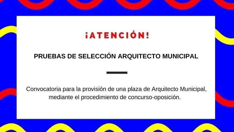 Pruebas de selección de una plaza de Arquitecto Municipal en el Ayuntamiento de La Puebla