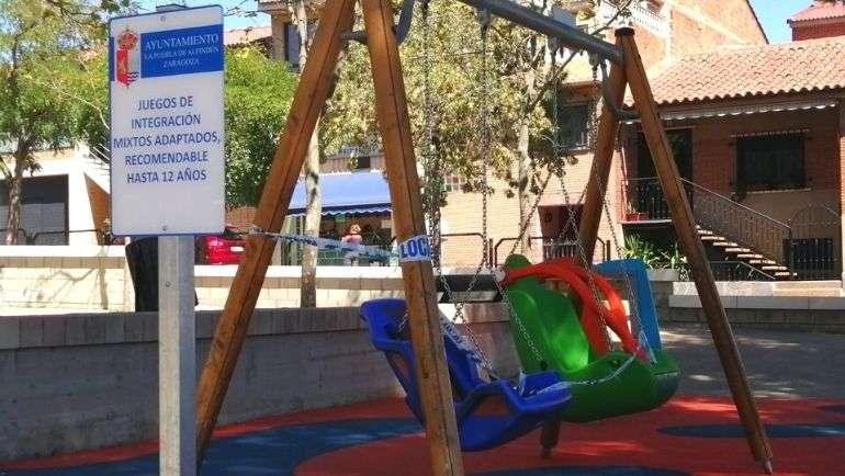 Nueva zona de juegos infantiles para personas con dificultades sensoriales
