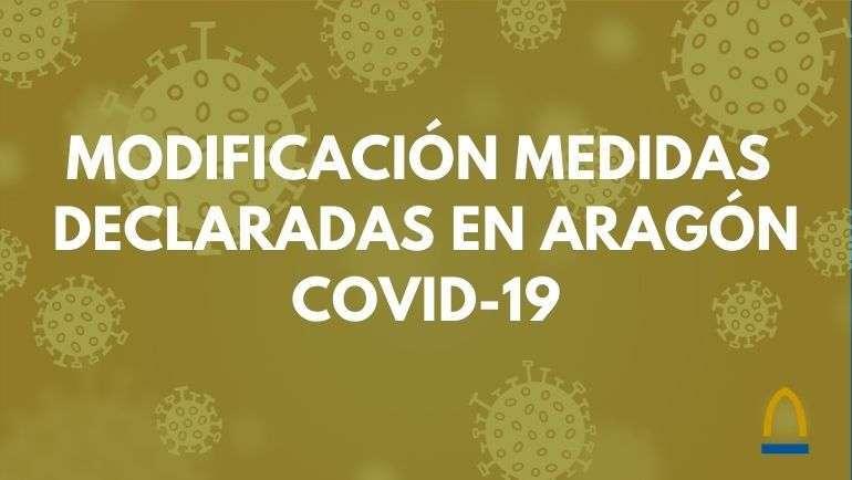 Sanidad modifica las medidas declaradas en Aragón con motivo de la covid19