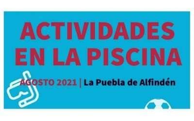 Actividades en la Piscina Municipal para este mes de agosto