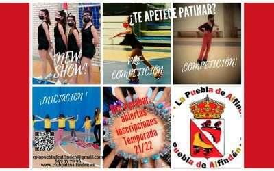 Inscripciones para la temporada 21/22 del Club Patín La Puebla de Alfindén